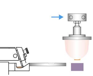Tampondruck - Tampon bewegt sich über das Druckgut