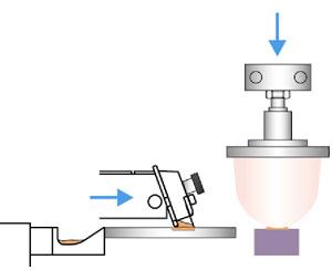 Tampondruck - Farbe wird auf das Druckgut abgegeben