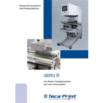 Pad Printing Machine delta III open inking system